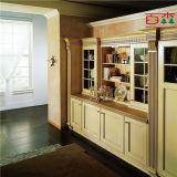Armário de cozinha moderno montado auto da madeira contínua