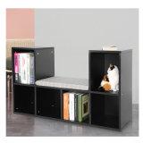 Rack de armazenamento de madeira para escritórios de estante de Desktop