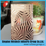 5mm Acid Etched Glass / Pattern Verre / Deep Acid Etched Glass