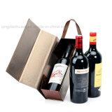 Contenitore di regalo impaccante stampato documento riciclato lusso del cartone del vino rosso