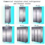 Comercial de acero inoxidable de calidad superior cocina congelador