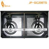 Fornello di gas dorato del bruciatore di Alu dei due bruciatori (JP-GC206TS)