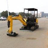 Il piccolo escavatore dell'escavatore idraulico della rotella, può essere fornito di vari strumenti