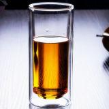 二重壁ジュースのガラスマグのゆとりのガラスコーヒーカップのフルーツジュースガラス水ガラス