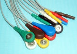 Moniteur patient DIN Holter Snap & Clip 7 Câble ECG Leadwire