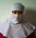 Le Cleanroom vêtx le capot autoclavable de DÉCHARGE ÉLECTROSTATIQUE de capot de Cleanroom (pleine face)