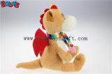 En71 encantador aprovou o brinquedo enchido luxuoso das crianças do dinossauro de Brown com lenço Bos1200