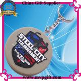 Keychain di plastica per il regalo di gomma dell'anello portachiavi