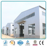 Edificio de la fábrica de la estructura de acero de la luz del palmo ancho con la grúa
