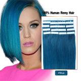 # prolonge bleue de cheveu de bande