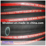 Boyau en caoutchouc hydraulique tressé en acier de vapeur pour des machines de construction