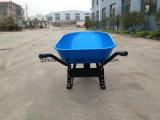 Carrinho de mão de roda de borracha Wb6681 do Wheelbarrow do trole do carro do transporte
