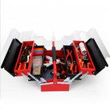 Boîte à outils de fer de pliage portable avec Multi-Trays