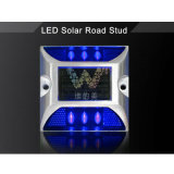 Blue Flashing LED Road Safety Aluminium Solar Power Road Stud
