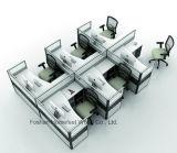 Poste de travail droit de modèle moderne avec 6 portées de personne (HF-YZQ520)