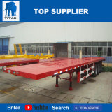 Véhicule de titan - 3 essieu 40FT 40 tonnes de capacité de conteneur semi de ventes à plat de remorque