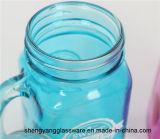 Tazza di vetro di Marson di vendita 16oz della tazza di vetro di vetro calda della bevanda con il coperchio del metallo