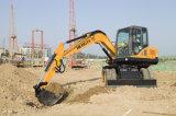 7 ton Escavadeira de rodas hidráulicas HT75W
