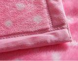 Point blanc super doux imprimé de flanelle Blanket