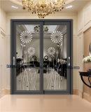 100-90 Ouya сдвижной двери с темными цветами