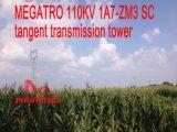 Башня передачи тангенса Sc Megatro 110kv 1A7-Zm3