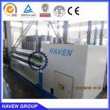 Machine de roulement de dépliement de plaque symétrique mécanique de 3 rouleaux W11-12X3000