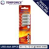 pile sèche de pile alcaline de 1.5V Digitals avec BSCI (LR03-AAA 20PCS)