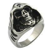 El cráneo de estilo gótico de anillo joyas para hombres