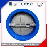 Clapet anti-retour de double guindineau de disque pour le traitement des eaux