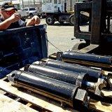 Cilindro hidráulico ativo dobro do petróleo da grua do Underbody do reboque da descarga