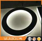 LED Signo del Halo del PDL Acero Inoxidable