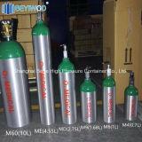 Médico de alumínio sem costura de alta pressão do cilindro de oxigênio cilindro de gás
