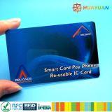 cartão da alta segurança RFID MIFARE DESFire EV1 de 13.56MHz ISO14443A para o pagamento