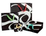 Sacchi di carta neri del regalo del Kraft per promozionale (FLP-8978)