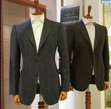Los botones estupendos de la aduana dos de 160s 100%Wool enarbolan juegos delgados de los hombres del ajuste de la solapa