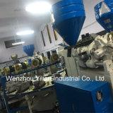 機械価格を作る新製品PVC 3カラー布の靴