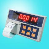 表示器の重量を量るラベルプリンター
