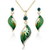 高品質のエナメルの白い金のめっきされた女性の宝石類セット