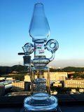 Tubo di acqua di fumo di vetro di Hb-K46 16inch 40diameter 5thickness della doppia del riciclatore caffettiera a filtro stereo in-linea all'ingrosso della tabella