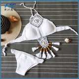 Богемия стиле ручной работы спицы купальник бикини off плечо варианты конфигураций высокопроизводительн ых горловины пляжем Bikinis ручной работы