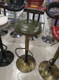 Продажа цельной древесины из кованого железа бар табурет, обеденный стул