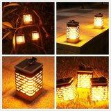 太陽LEDの蝋燭またはランタン太陽ランプの庭ライトライトランタンの明滅
