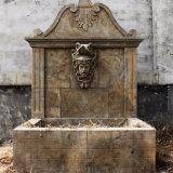 Вырезанными из камня в саду мраморным фонтаном
