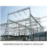 Montaggio tubolare della struttura d'acciaio della sottostazione del trasformatore di potere dei rifornimenti elettrici