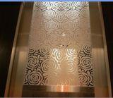 Grabado de hoja de acero inoxidable para ascensor decoración del hotel