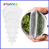 Maintien de la nourriture fraîche réutilisables en silicone résistant s'étirer les couvercles de joint bol couvre