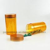 conteneur en plastique de médecine de l'animal familier 100ml ambre pour les pillules (PPC-J021)