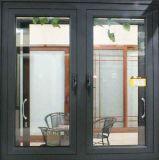 Rotoのドイツのハードウェア(ACW-069)が付いている二重ガラスをはめられた高品質のアルミニウム開き窓のガラス窓