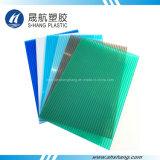 Plaque en plastique en polycarbonate creuse en toiture de 100% Matériau vierge