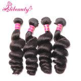 100%フィリピンの毛の織り方の緩い波のRemyの人間の毛髪の拡張